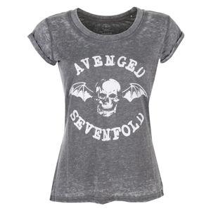 Tričko metal ROCK OFF Avenged Sevenfold Deathbat černá M