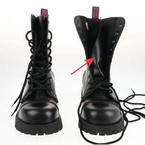 boty NEVERMIND - 10 dírkové - Black Polido - POŠKOZENÉ - BEA077