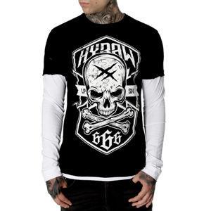 tričko hardcore HYRAW MANCHES LONGUES černá XL