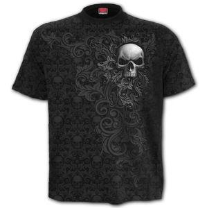 tričko SPIRAL SKULL SCROLL černá XXL