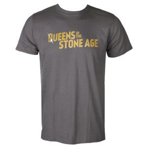 tričko metal PLASTIC HEAD Queens of the Stone Age TEXT LOGO (METALLIC) černá XXL