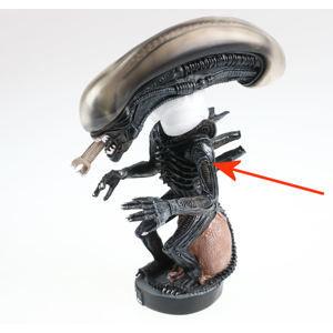 figurka Alien - Head Knocker - POŠKOZENÁ- MA102