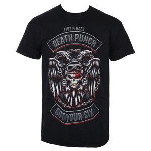 tričko pánské Five Finger Death Punch - Biker Badge - Black - ROCK OFF - FFDPTS21MB L