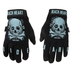 rukavice BLACK HEART Moto W-TEC Web Skull