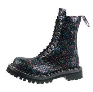 boty kožené STEADY´S 10 dírkové černá 36