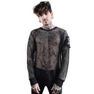 tričko pánské s dlouhým rukávem KILLSTAR - Syd Fishnet - BLACK - KSRA001811 XS