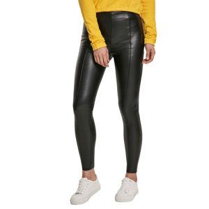 kalhoty dámské URBAN CLASSICS - Faux Leather Skinny - black - TB3238 S