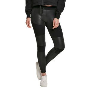 kalhoty dámské (legíny) URBAN CLASSICS - Fake Leather Tech Leggings - black - TB3246 S