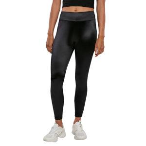 kalhoty dámské (legíny) URBAN CASSICS - Shiny High Waist Leggings - black - TB3789 S