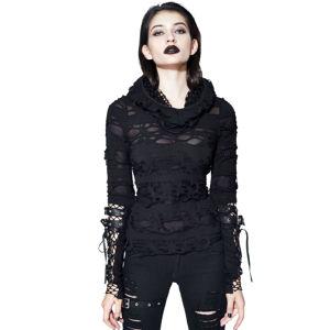 tričko dámské s dlouhým rukávem DEVIL FASHION - TT096 L